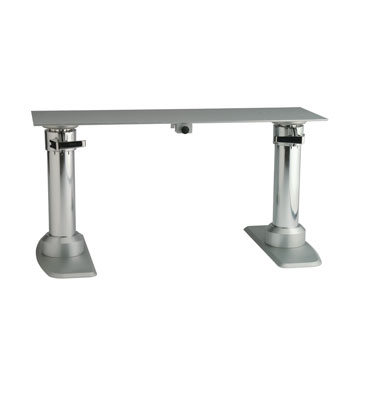 Double Stand Gas Rise Table Pedestal