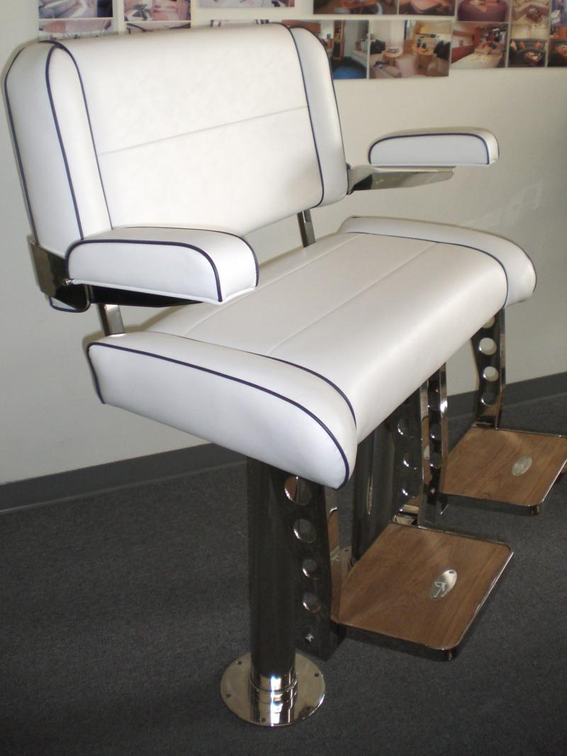 Boat captains chairs - Double Wide Helm Chair