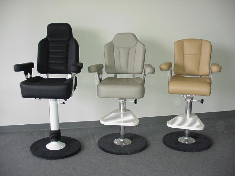 Exceptional Boat Hand Crafted Helm Chairs