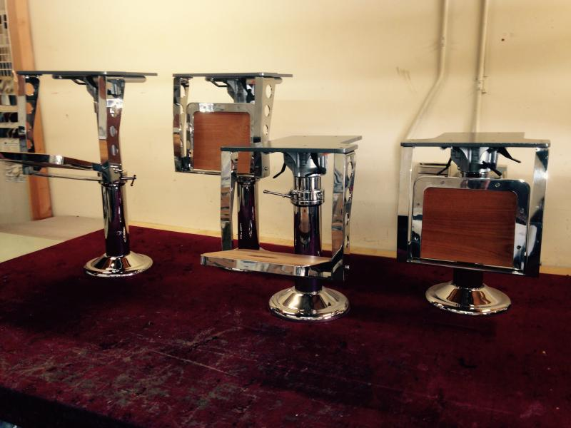 Stainless Helm Chair Pedestal